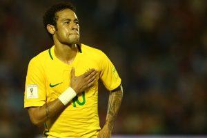 Neymar na partida entre Brasil x Uruguai (Foto: Lucas Figueiredo/CBF)