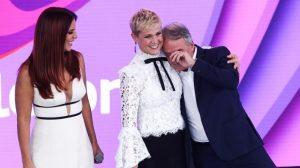 Xuxa no Teleton do SBT (Foto reprodução)