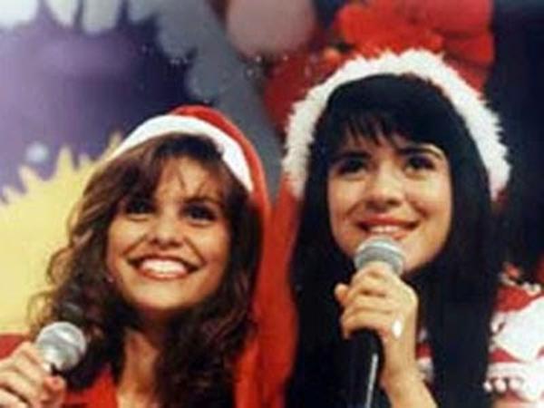 Aline Barros e Mara Maravilha juntas no passado (Foto: Reprodução)