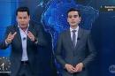 """Marcão do Povo e Dudu Camargo no """"Primeiro Impacto"""" (Foto: Reprodução/SBT)"""