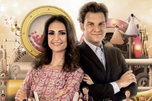 """Chris Flores e Carlos Bertolazzi comandam o """"Fábrica de Casamentos"""" (Foto: Divulgação/SBT)"""