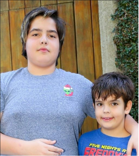 João Guilherme e Rodrigo, filhos de Faustão. Foto - Brazil News.