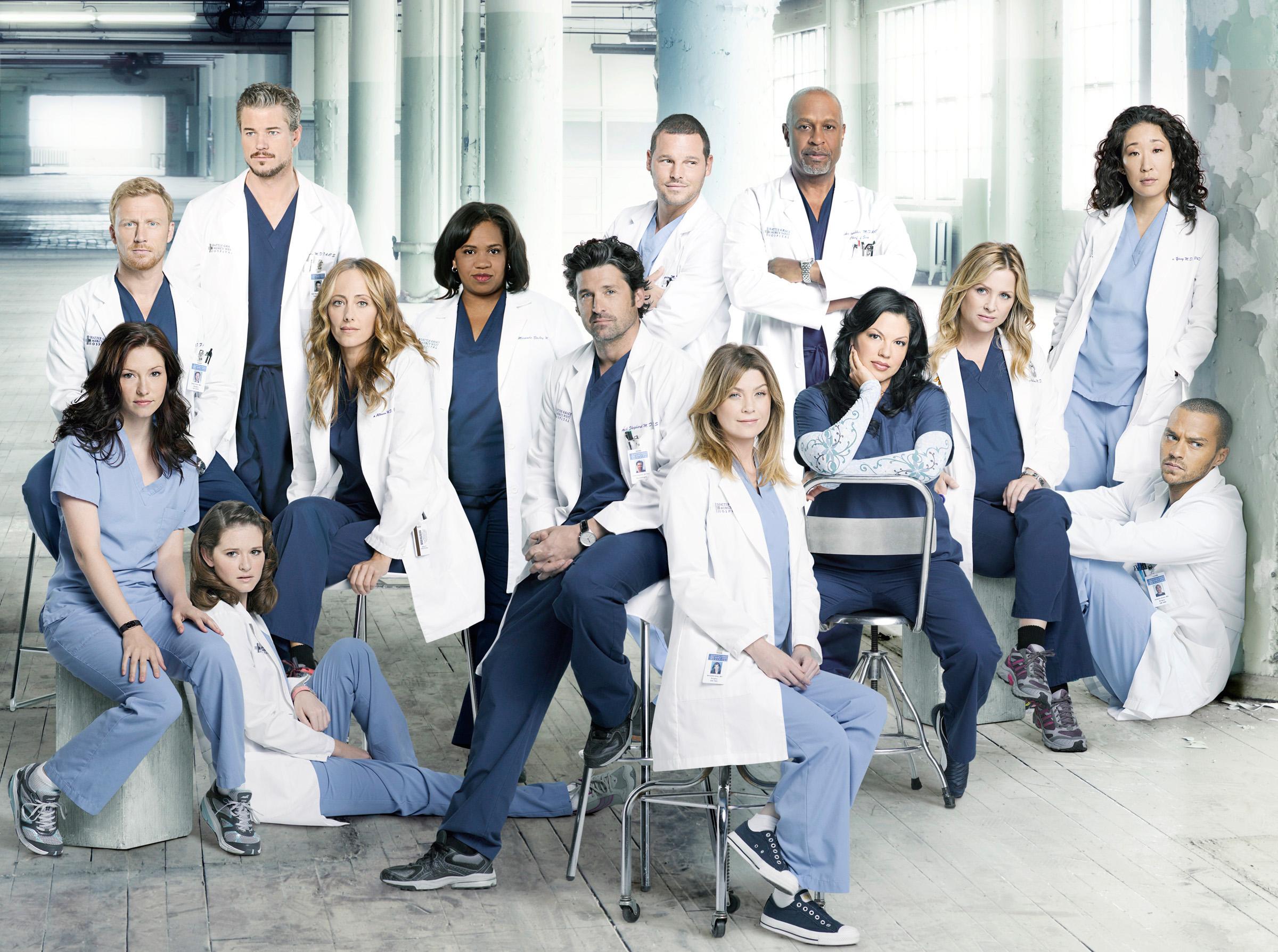 "Elenco de ""Grey's Anatomy"" (Foto: ABC/BOB D'AMICO)"