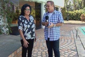 Gugu entrevista ex-diretora de Hebe Camargo (Foto: Divulgação/Record)