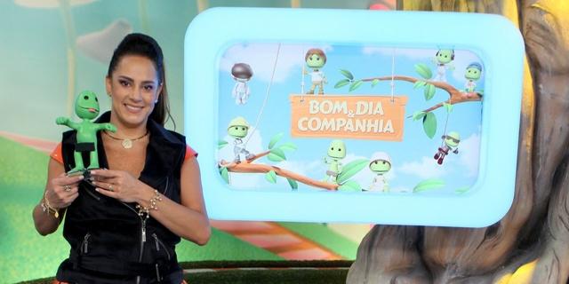 "Silvia Abravanel no ""Bom Dia & Cia"" (Foto: Lourival Ribeiro/SBT)"