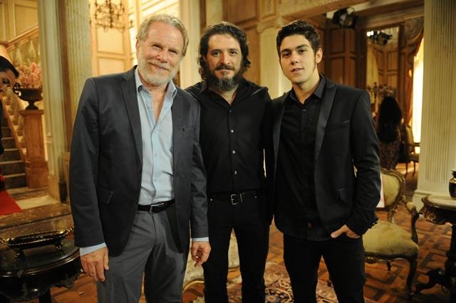 Jonas Bloch , Guilherme Piva e Daniel Rangel (Foto: Globo/João Miguel Júnior)