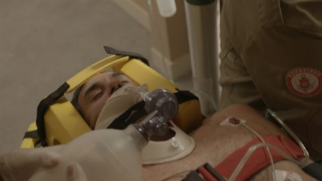 Ricardo (Marcos Pasquim) após o acidente em 'Malhação' (Foto: Globo/Divulgação)