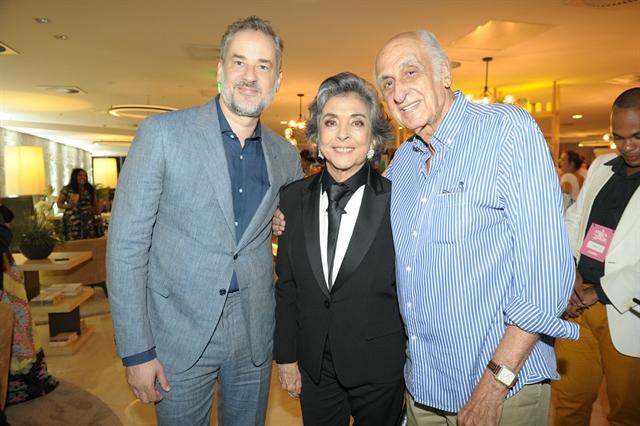 Dan Stulbach e Betty Faria e Zuenir Ventura (Foto: Globo/João Miguel Junior)