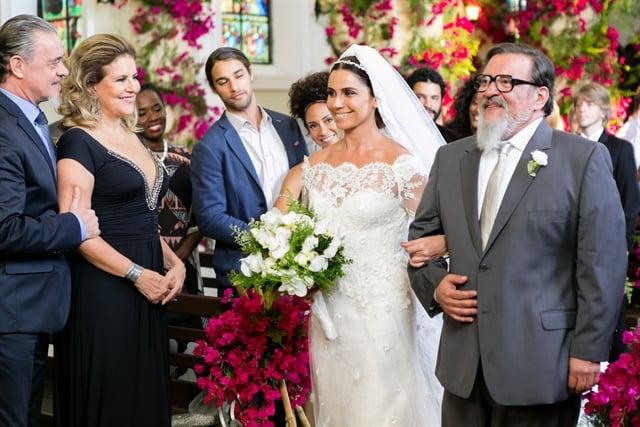 Casamento de Alice (Giovanna Antonelli) e Mario (Bruno Galgiasso) (Foto: Globo/Tata Barreto)