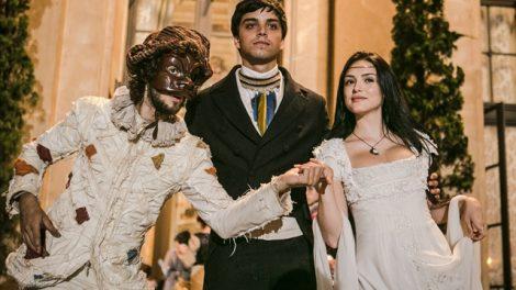Joaquim (Chay Suede), Piatã (Rodrigo Simas) e Anna (Isabelle Drummond) (Foto: Globo/Raquel Cunha)