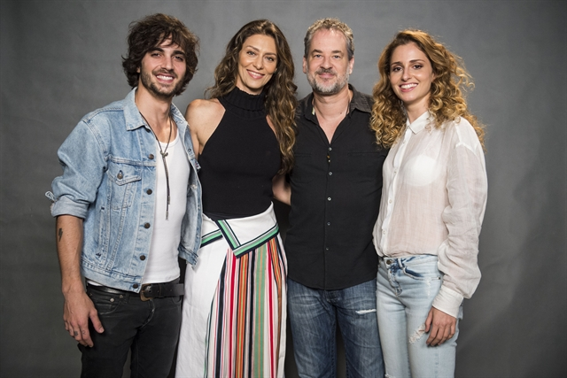 Ruy (Fiuk), Joyce (Maria Fernanda Cândido), Eugênio (Dan Stulbach) e Ivana (Carol Duarte) (Foto: Globo/Mauricio Fidalgo)