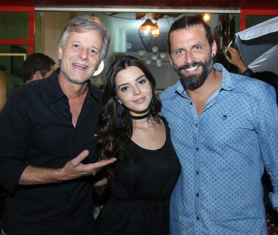 Marcello Novaes, Giovanna Lancellotti e Henri Castelli (Foto: Daniel Pinheiro/ Ag. News)