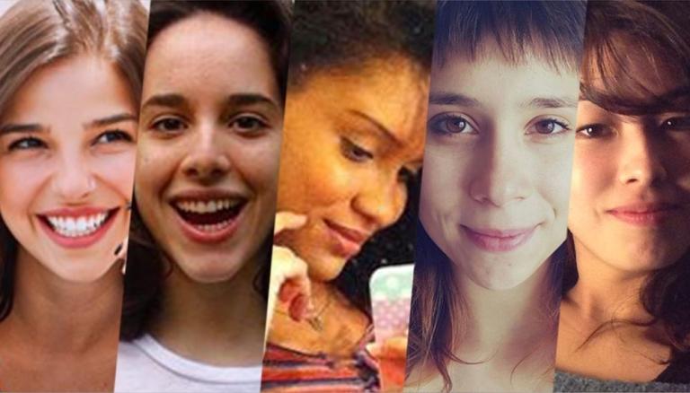 As cinco protagonistas da nova Malhação. Foto - montagem