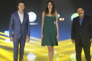 Artistas das três emissoras se uniram no institucional (Foto: Divulgação)