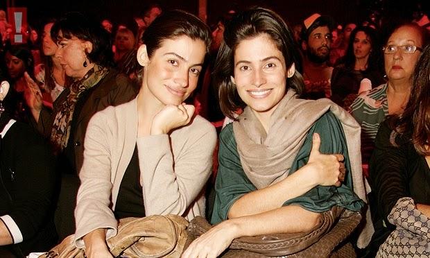 Renata Vasconcellos, âncora do Jornal Nacional, e a irmã Lanza (Foto: Reprodução)