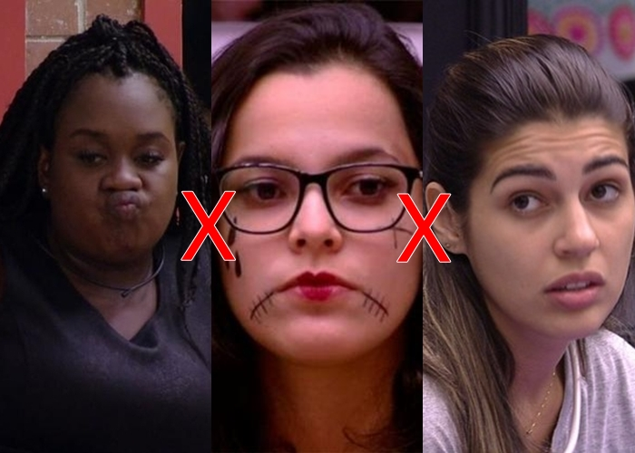 Roberta, Emilly e Ieda estão no paredão da semana do 'BBB 17'
