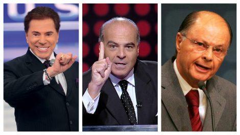 Silvio Santos, Marcelo de Carvalho e Edir Macedo, donos do SBT, Record e RedeTV (Foto montagem: TV FOCO)