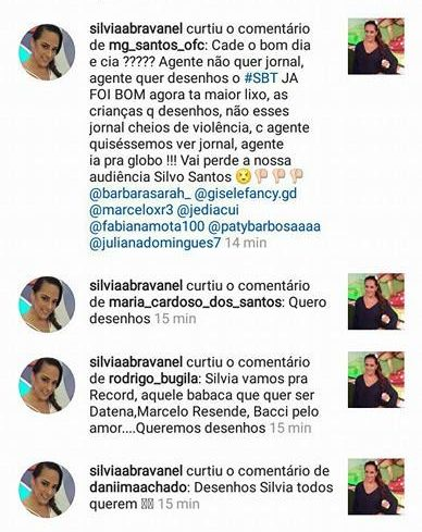 Silvia Abravanel curtindo os comentários (Foto: Reprodução)
