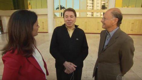 Silvio Santos ao lado de Edir Macedo, donos do SBT e Record (Foto: Reprodução/Record)