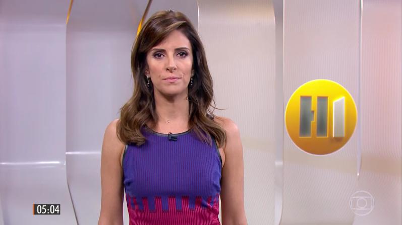 Monalisa Perrone no Hora Um; apresentadora foi anunciada pela CNN Brasil após se demitir da Globo (Foto: Reprodução/Globo)
