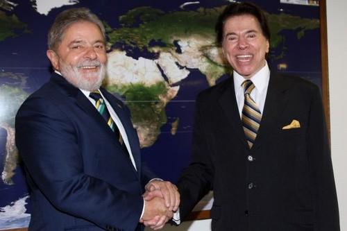 Lula e Silvio Santos durante encontro em 2010 (Foto: Ricardo Stuckert/Presidência da República)