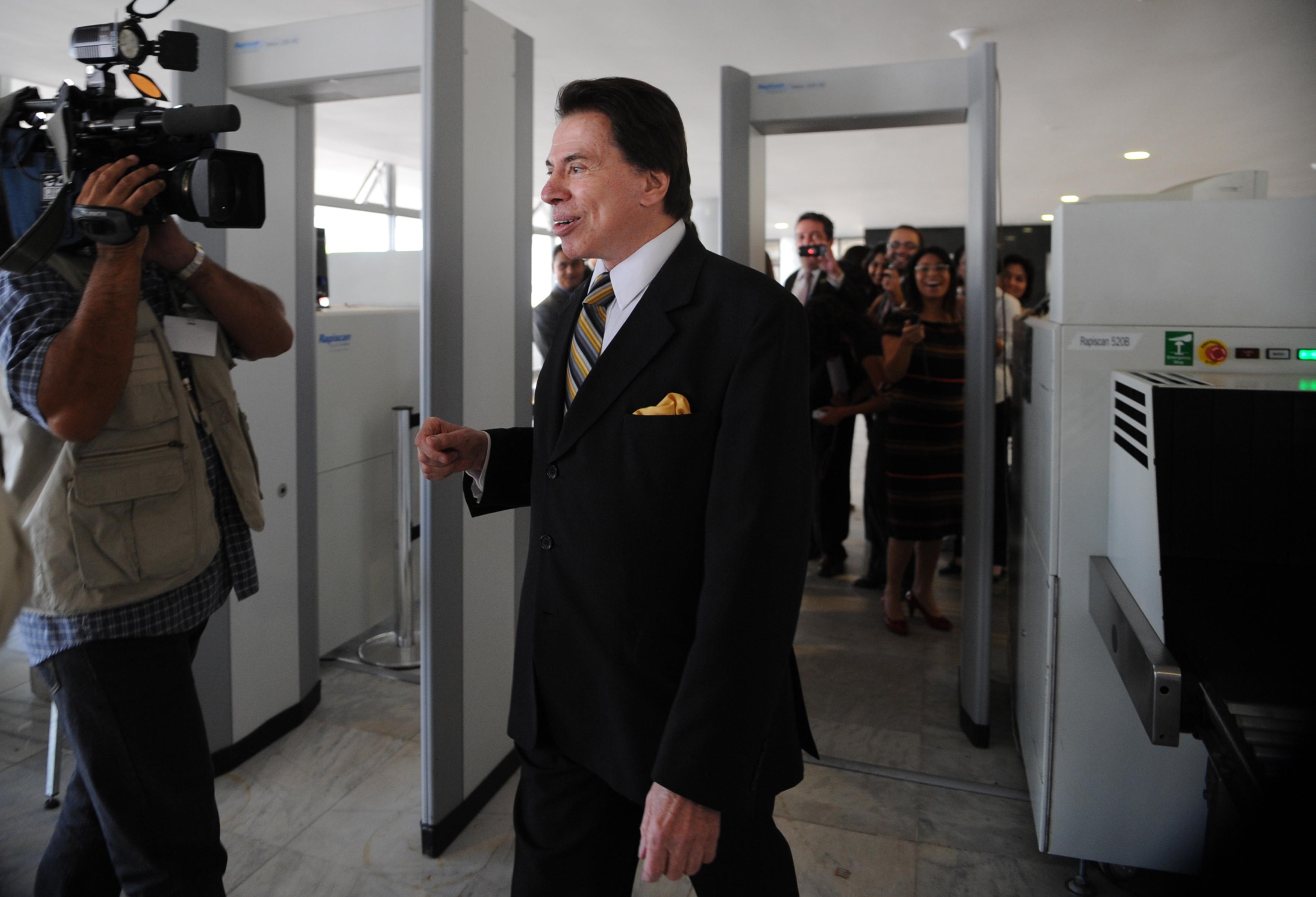 Silvio Santos se reúne com Michel Temer