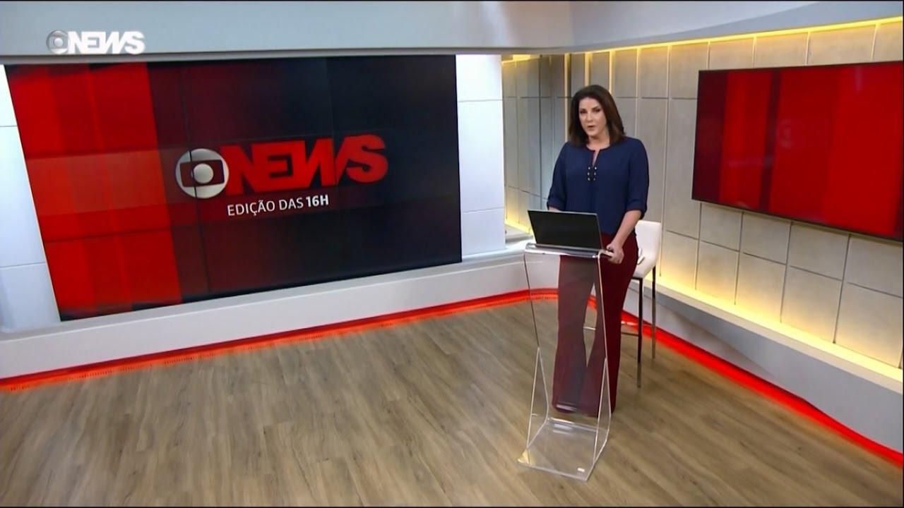 """Christiane Pelajo comanda o """"Edição das 16h"""" DA GloboNews. (Foto: Reprodução/GloboNews)"""
