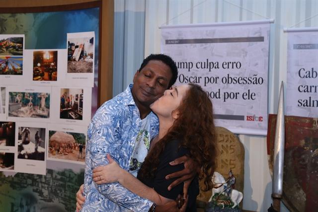 Luís Miranda e Debora Lamm (Foto: Globo/Pedro Paulo Figueiredo)