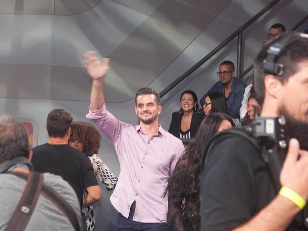Marcos esteve na final do programa. (Foto: Anderson Barros/Ego)