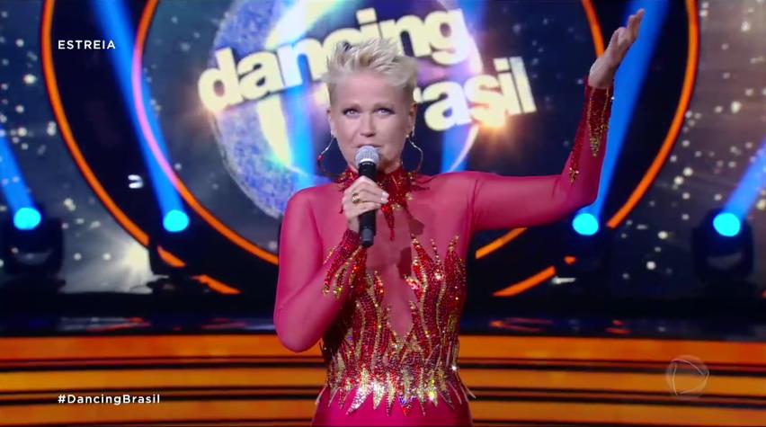 """Xuxa na estreia do """"Dancing Brasil"""" (Foto: Reprodução/Record)"""