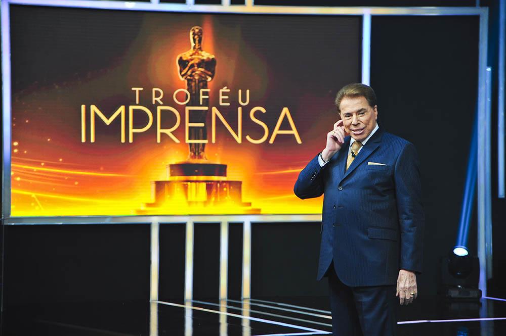 """O apresentador Silvio Santos comanda o """"Troféu Imprensa"""". (Foto SBT)"""