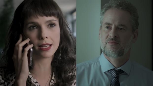 """Irene (Debora Falabella) e Eugênio (Dan Stulbach) em cena de """"A Força do Querer"""" (Foto: Reprodução/Globo)"""
