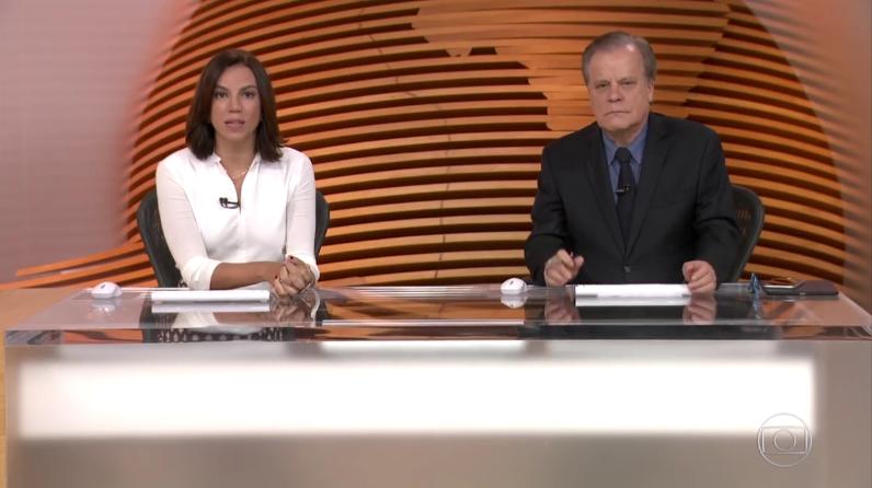 """Ana Paula Araújo e Chico Pinheiro no """"Bom Dia Brasil"""", da Globo (Foto: Reprodução/Globo)"""