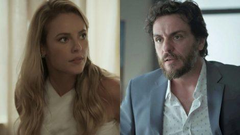 """Jeiza (Paolla Oliveira) e Caio (Rodrigo Lombardi) em """"A Força do Querer"""" (Foto: Reprodução/Globo)"""