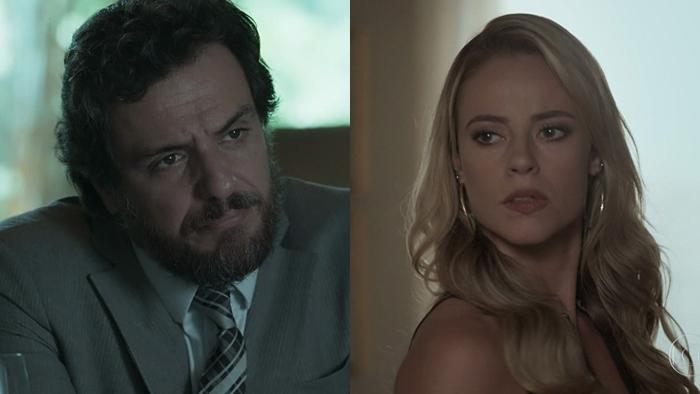 """Caio (Rodrigo Lombardi) e Jeiza (Paolla Oliveira) em """"A Força do Querer"""" (Foto: Reprodução/Globo)"""