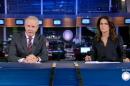 """Celso Freitas e Adriana Araújo no comando do """"Jornal da Record"""" (Foto: Reprodução/Record)"""