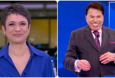 Sandra Annenberg e Silvio Santos