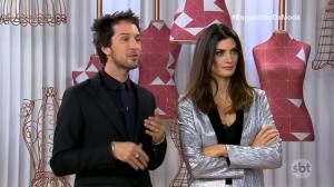 """Arlindo Grund e Isabella Fiorentino no """"Esquadrão da Moda"""" (Foto: Reprodução/SBT)"""