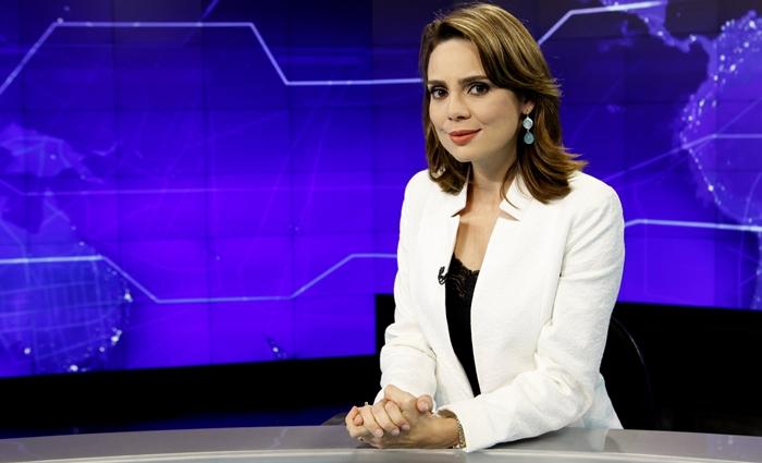 "Rachel Sheherazade no ""SBT Brasil"" (Foto: Lourival Ribeiro/SBT)"