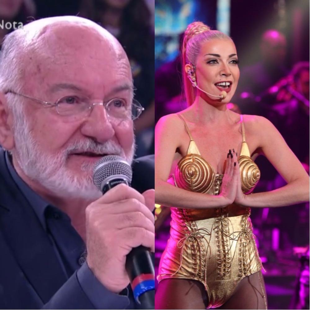 Silvio de Abreu ficou sem graça após pergunta de Luiza Possi no Domingão do Faustão (Foto montagem: TV Foco)