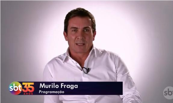 O diretor Murilo Fraga. Foto - reprodução/SBT.