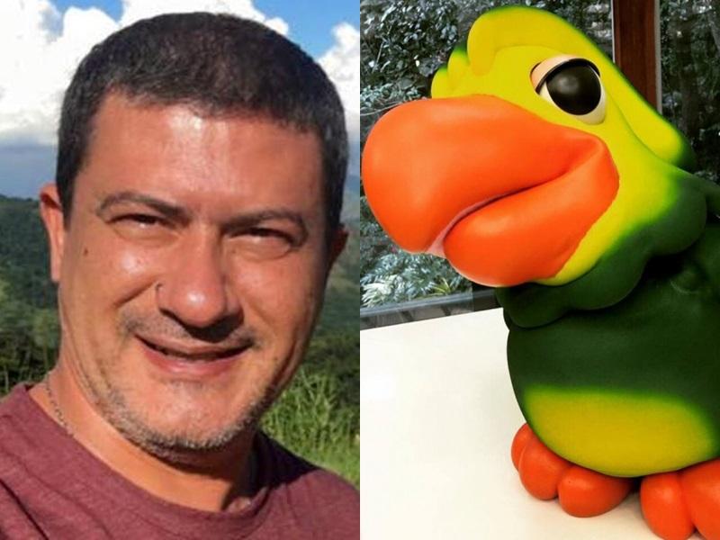 PERDA: Tom Veiga é quem manipula e dá voz ao papagaio Louro José (Foto: Reprodução/Montagem/TV Foco)