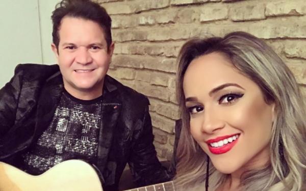 Ximbinha e Michele Andrade, da XCalypso (Foto: Reprodução/Instagram)