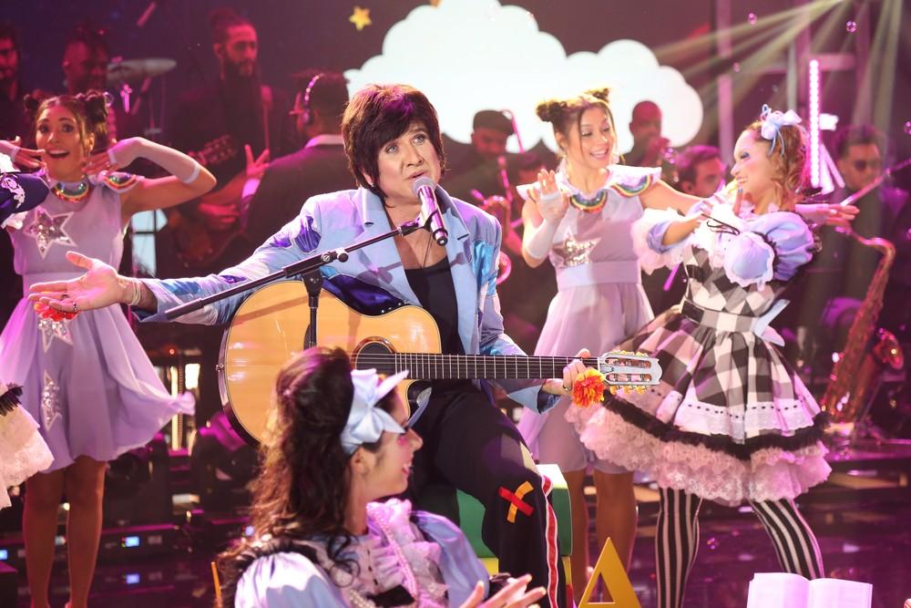Eriberto Leão foi Adriana Calcanhoto (Foto Gshow/ Globo)