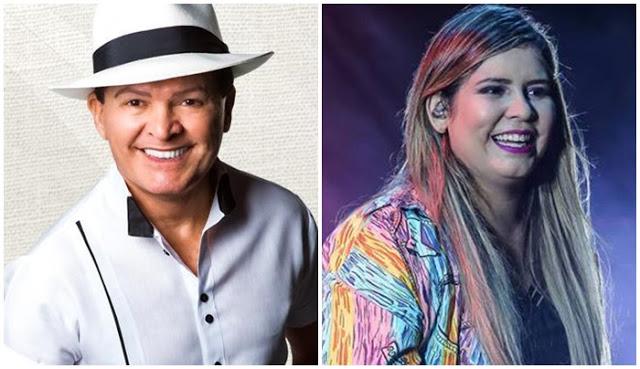 Alcymar Monteiro e Marília Mendonça (Foto: Reprodução)
