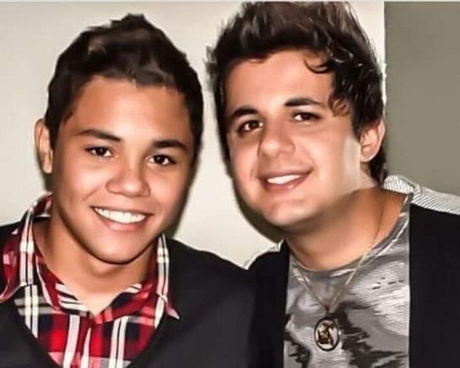 Felipe Araújo e o irmão, Cristiano Araújo (Foto: Reprodução)