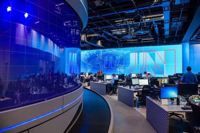 Nova redação do Jornalismo (Foto: Globo/Sergio Zalis)