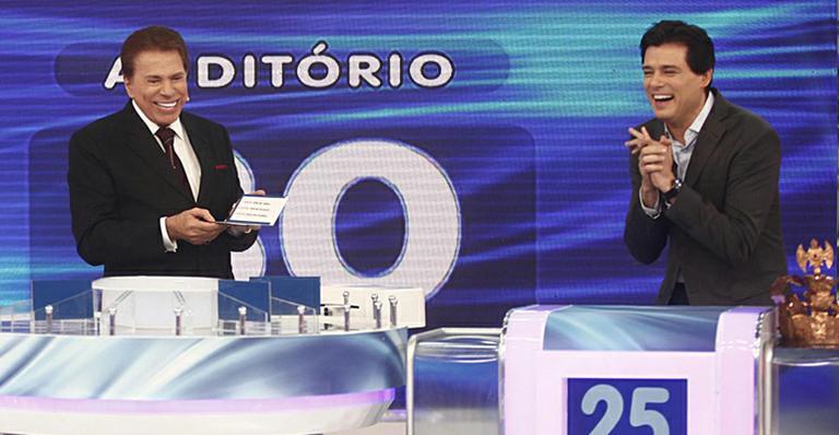Celso Portiolli e Silvio Santos (Foto: Reprodução)
