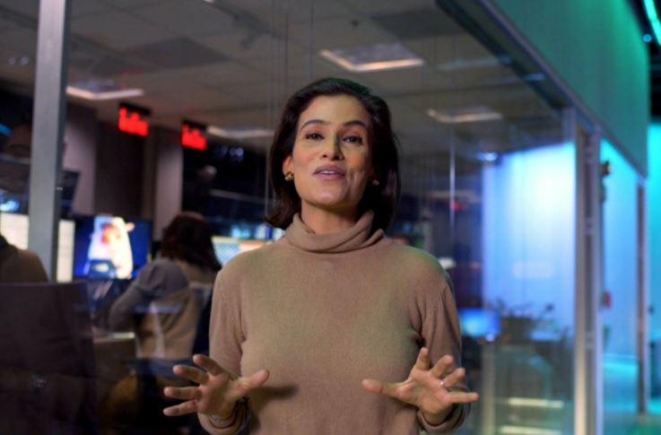 """A âncora do """"Jornal Nacional"""", Renata Vasconcelos (Foto: Reprodução/Globo)"""