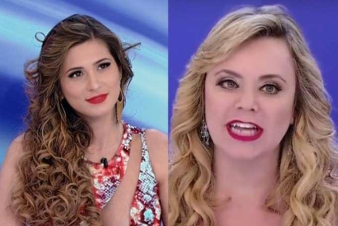 Lívia Andrade e Flor no Jogo dos Pontinhos do Programa Silvio Santos (Foto: Reprodução/SBT)